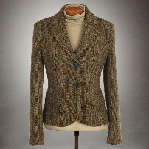 Ladies Tammy Harris Tweed Check Jacket with Harris Tweed Certified ...