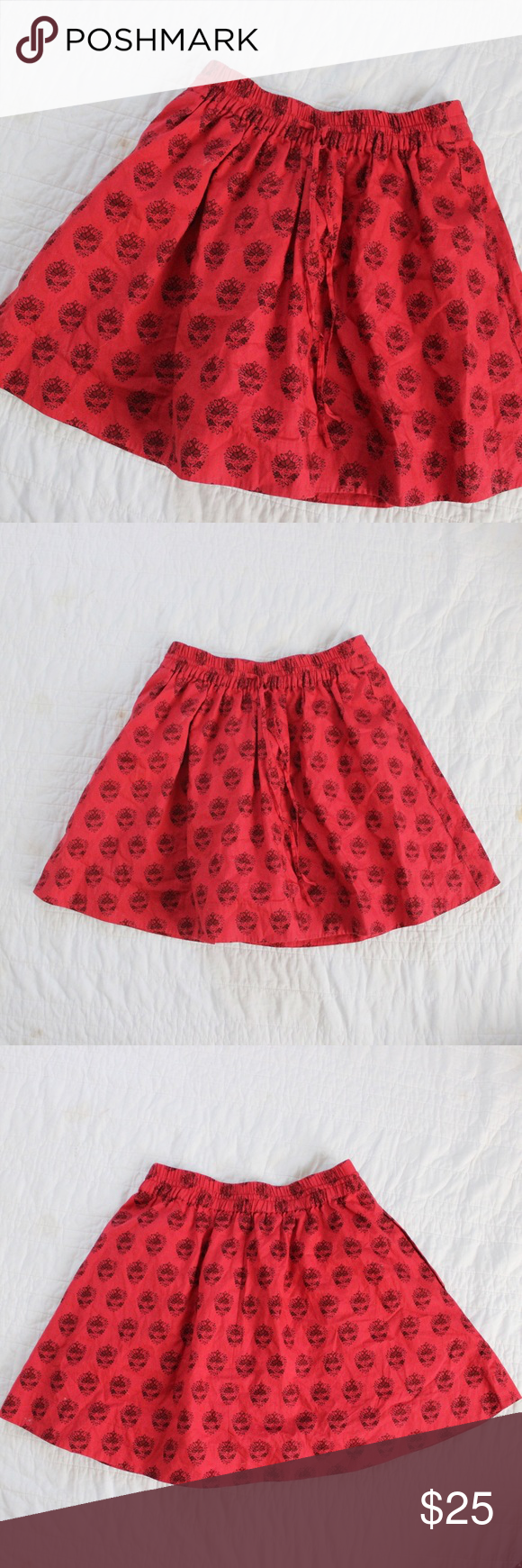 Madewell Printed Elastic Full Mini Skirt Madewell printed mini skirt with elastic hem.  Fits true to size.  Shown on a size 4/6 mannequin.  In gently used condition, no flaws.  Measurements available upon request.  All orders shipped same or next business day! Madewell Skirts Mini