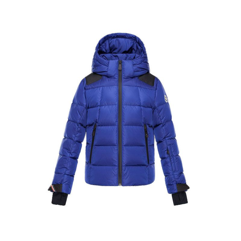 Kids Moncler Blue Enfant Elie Hooded Ski Jacket