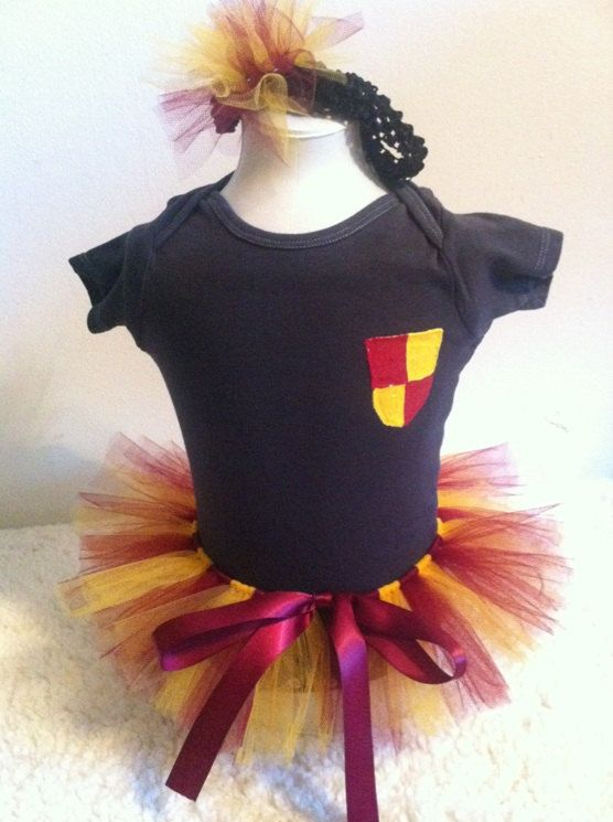 8d272e9e0 Gryffindor House Onesie Costume with Tutu and Headband