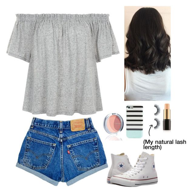 """""""OOTD"""" by gussied-up on Polyvore featuring Lancôme, Kate Spade and Converse"""