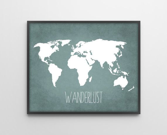 Travel quote world map art print poster wanderlust by bysamantha travel quote world map art print poster wanderlust by bysamantha gumiabroncs Choice Image