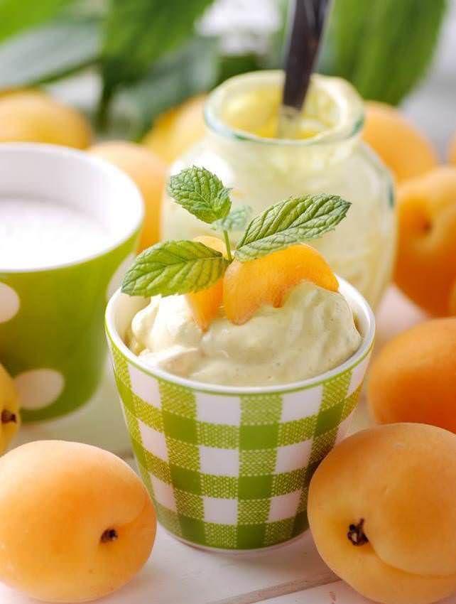 Cru00e8me aux abricots   Recette   Abricot, Recette dessert et Dessert abricot