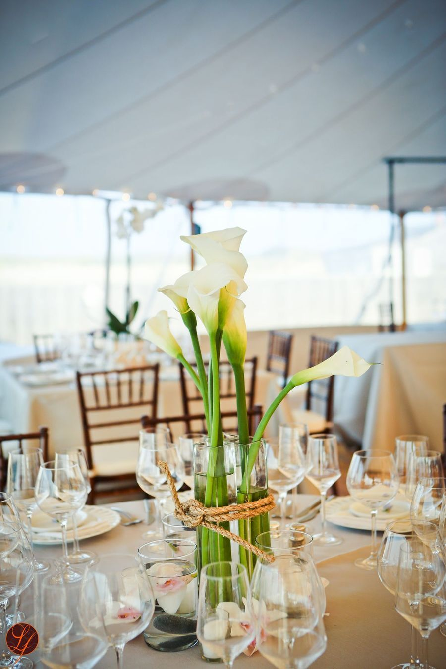Yacht wedding decoration ideas  Nantucket Wedding from Soiree Floral  LifeFusion Studios