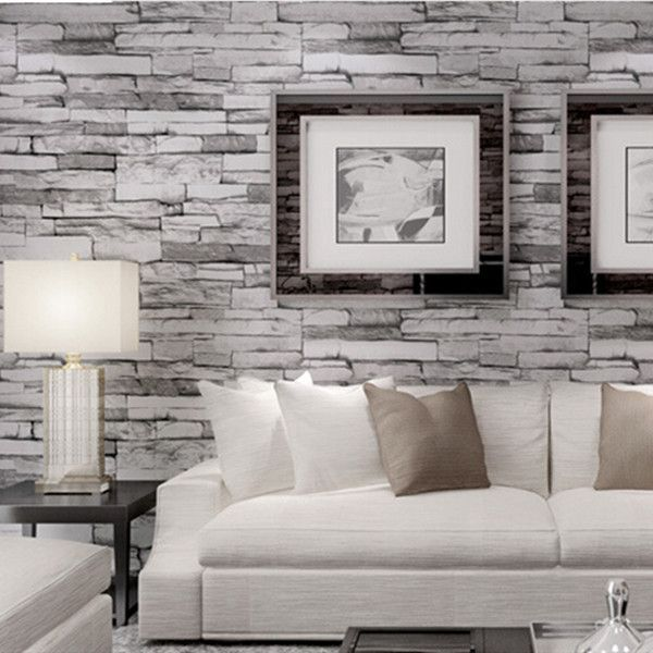 vintage 3d effect stack stone wallpaper wp109 nifty ideas brick wall wallpaper brick. Black Bedroom Furniture Sets. Home Design Ideas