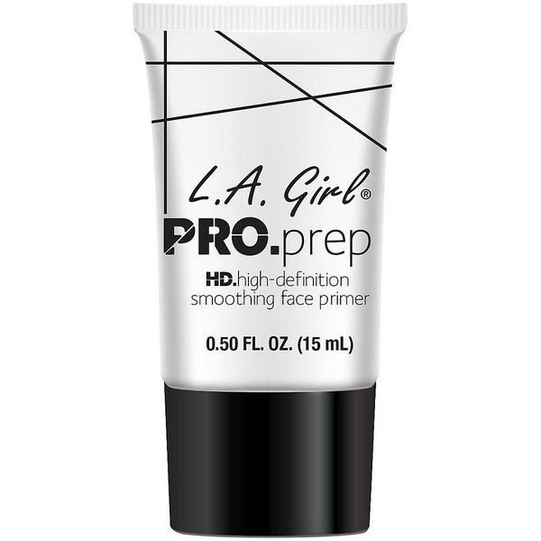 Charlotte Russe Clear L.A. Girl Pro Prep Primer (€4,47) ❤ liked on Polyvore featuring beauty products, makeup, face makeup, makeup primer, white, filler and charlotte russe