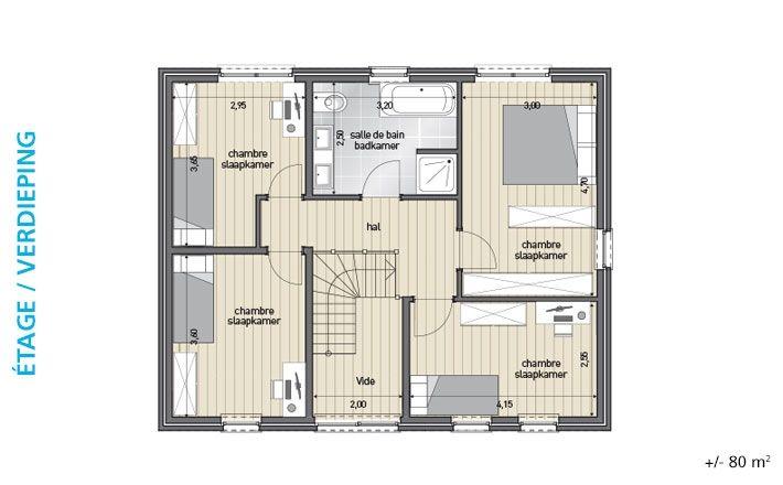Maisons Blavier nouvelle construction BL 276 plans maison étage - plan de maison sur terrain en pente