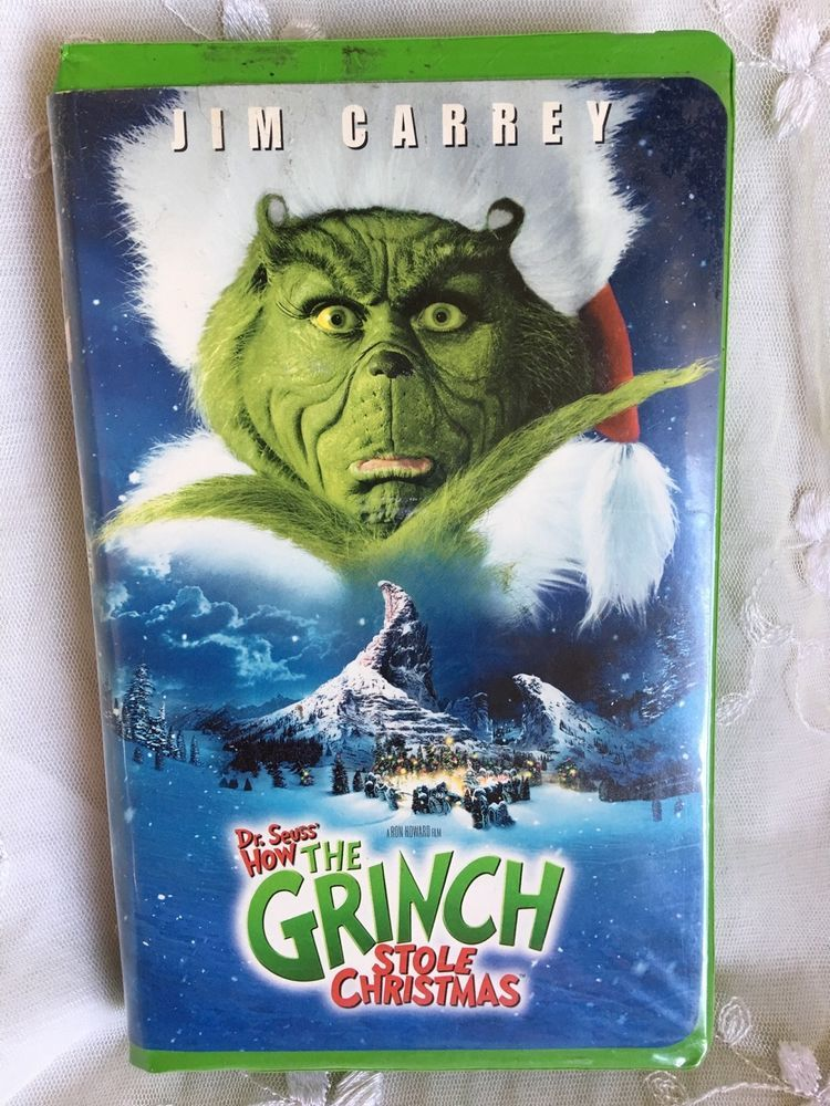 Jim Carrey How The GRINCH Stole Christmas VHS Tape Xmas Dr Seuss ...