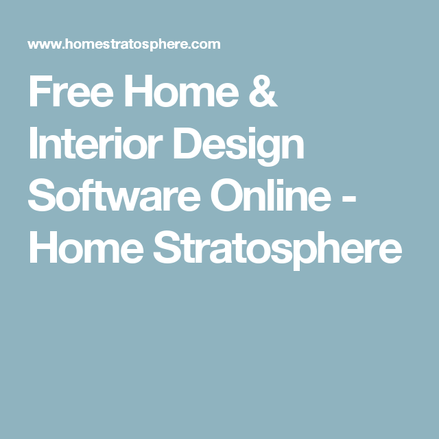 Free Home U0026 Interior Design Software Online   Home Stratosphere