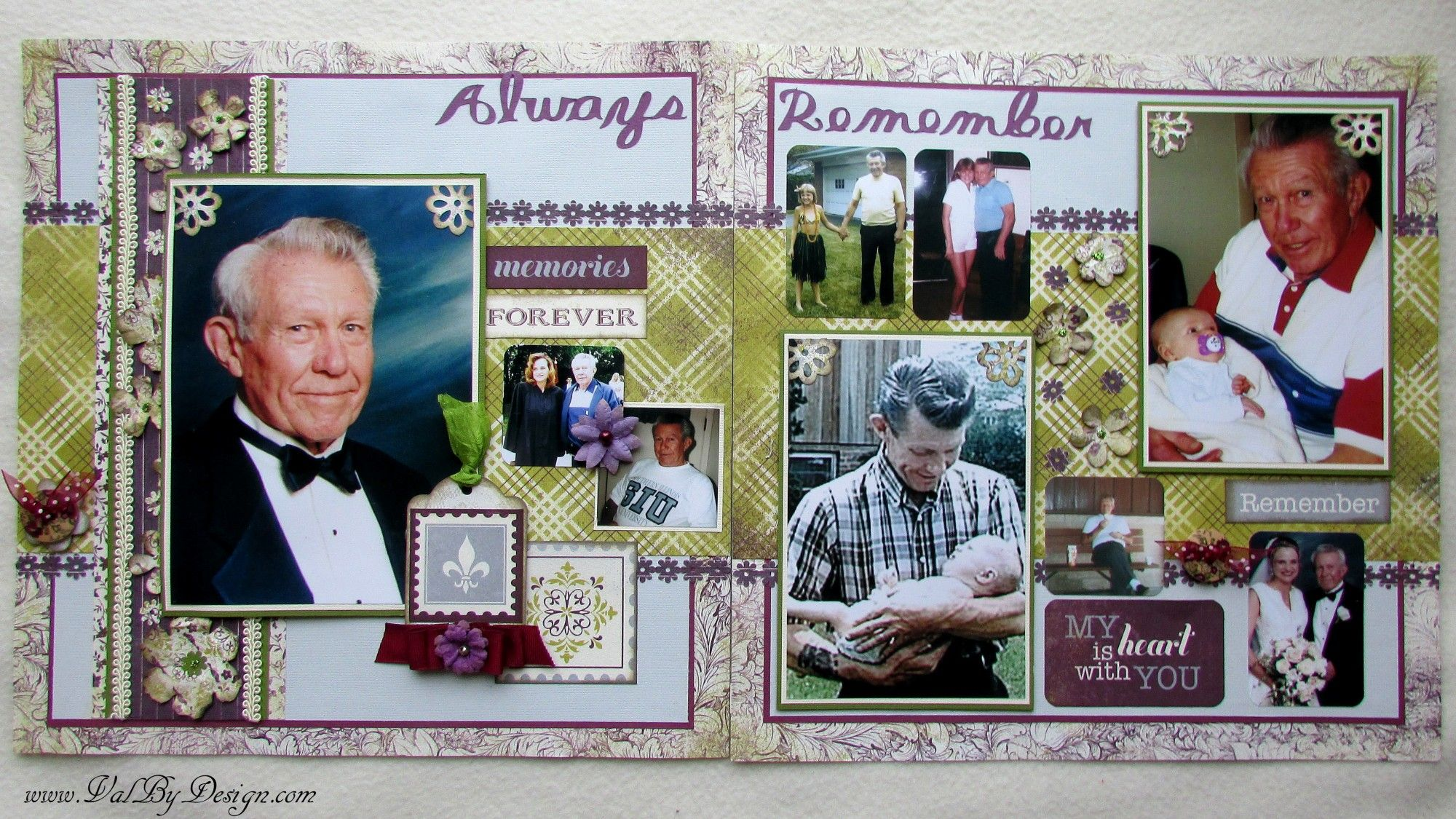 2-Page Layout with Authentiques Remembrance collection