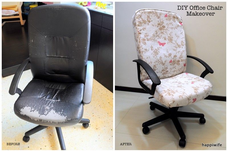 Diy ikea verner office chair makeover ikea hack diy craft