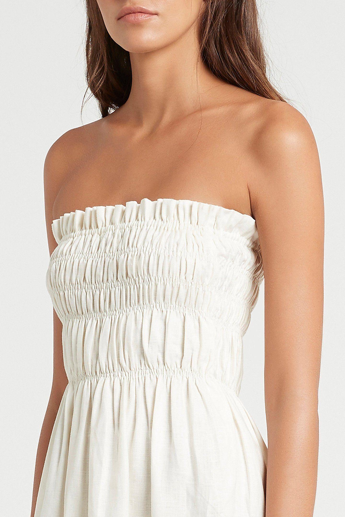 Alena Strapless Maxi Dress In 2021 Strapless Maxi Dress Strapless Summer Dress Strapless Top Outfit [ 2160 x 1440 Pixel ]
