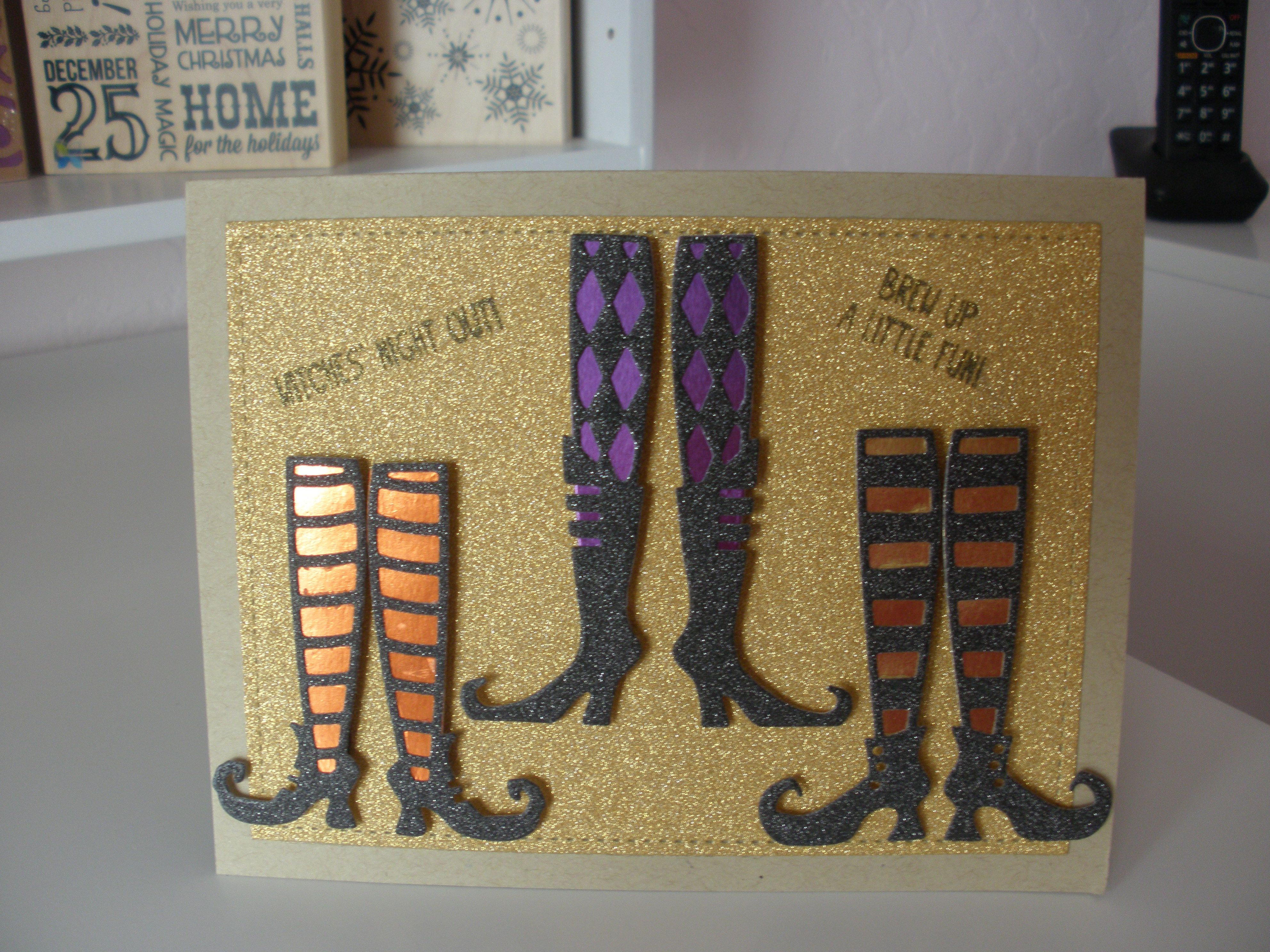Halloween card using Taylored Expressions dies.