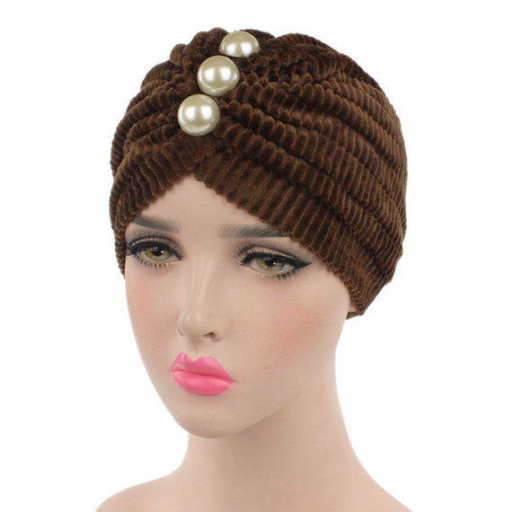 Brown Velvet Turban 2e4b7eb177ca