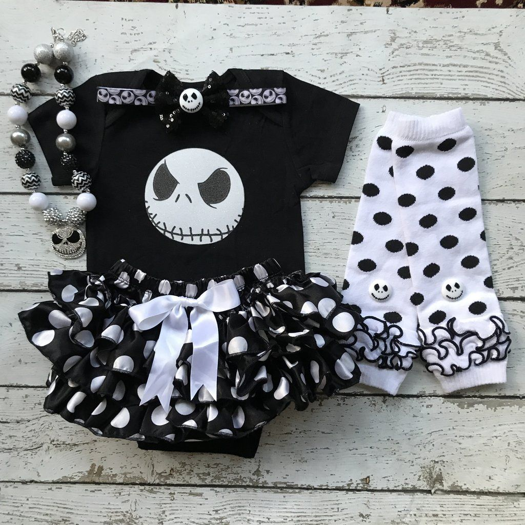 First halloween jack skellington costume 1st halloween costume take home outfit baby girl costume