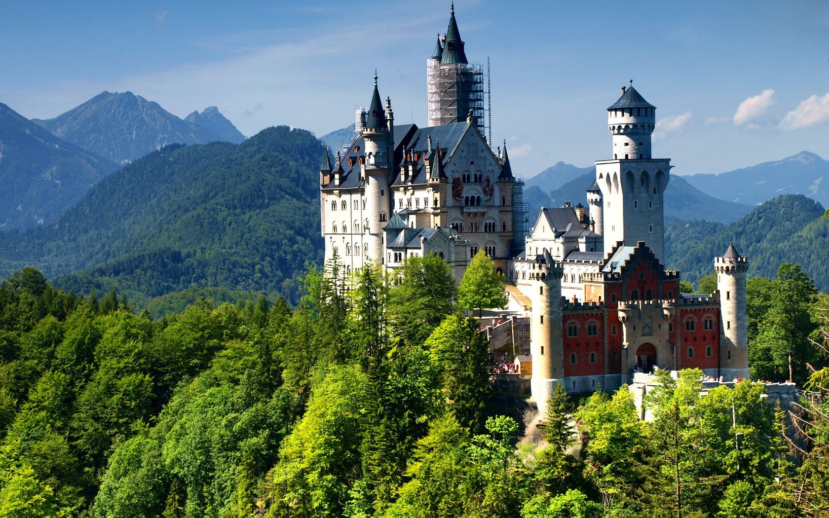 Neuschwanstein Castle HD Desktop Wallpaper High Definition