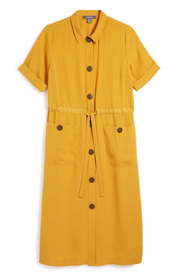 fb0012605af6d0 Primark - Yellow Utility Shirt Dress | Women's fashion in 2019 ...