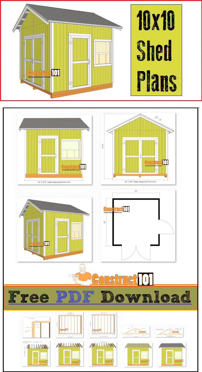 Shed plans x gable shed pdf download in shed plans