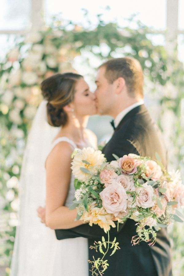 Rose and dahlia wedding bouquet: http://www.stylemepretty.com/maryland-weddings/stevensville-maryland/2017/03/16/this-maryland-fall-fete-is-the-definition-of-timeless/ Photography: Elizabeth Fogarty - http://www.elizabethfogartyphotography.com/