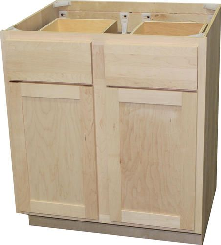 Quality One Trade 30 X 34 1 2 Unfinished Maple Double Base Cabinet With Drawers Kitchen Base Cabinets Base Cabinets Custom Kitchen Cabinets