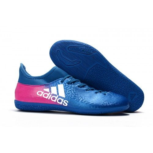 new adidas x 16 3 ic soccer cleats royal blue white pink
