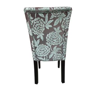 Classic Parson Purple/ Green Damask Dining Chairs (Set of 2 ...