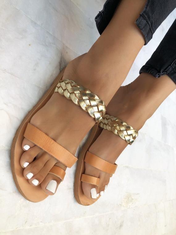 Handmade Greek Genuine Leather Sandals