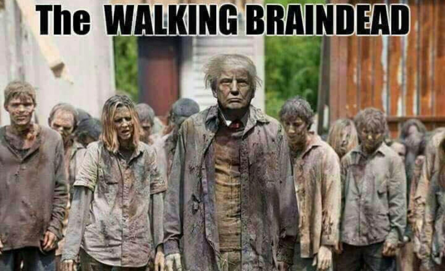 Trump And His Followers Zombie Apocalypse Survival The Walking