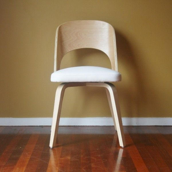 Contemporary Birchwood Dining Chair White 125 Roomworks Co Nz