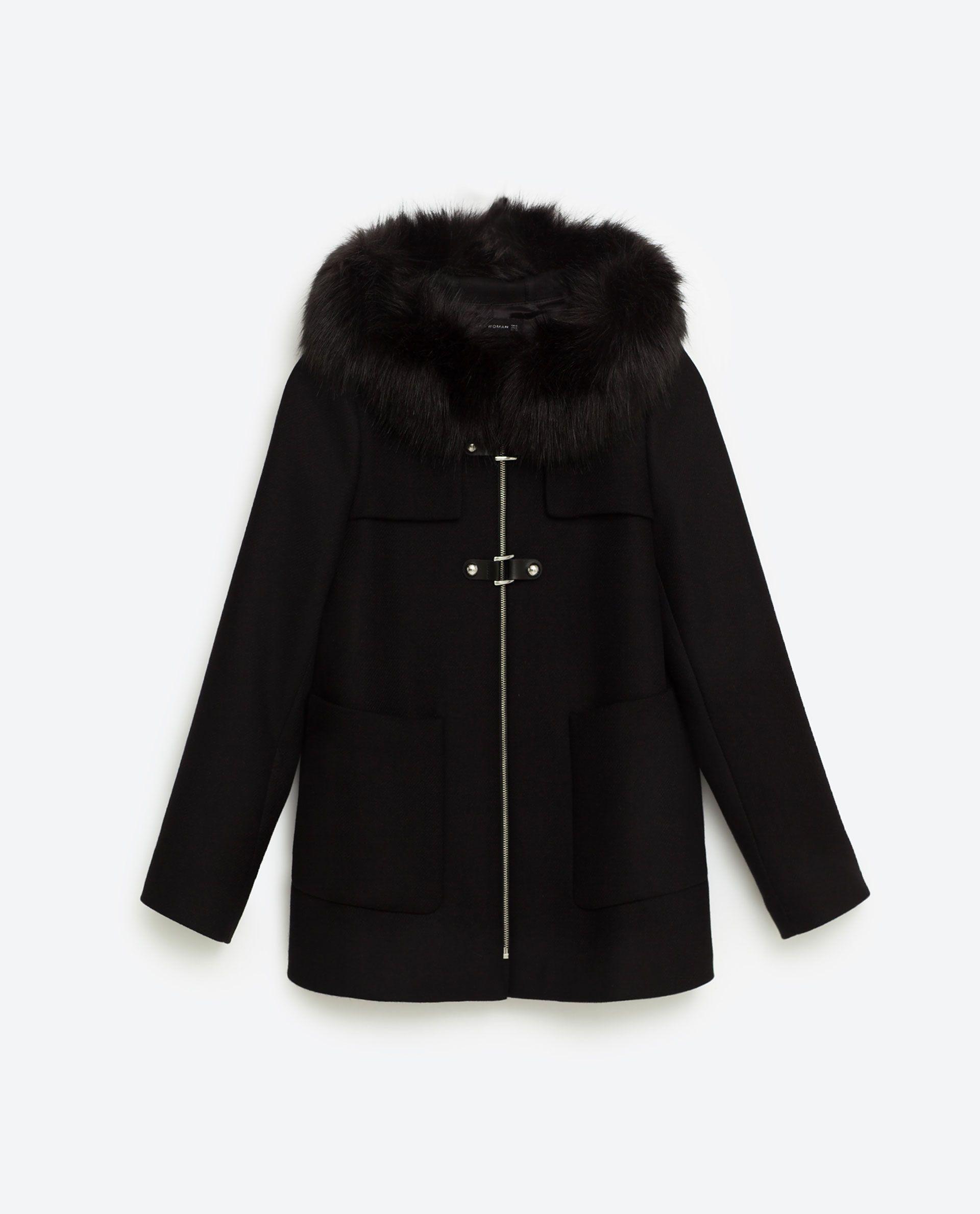 5d7572020b A-LINE DUFFLE COAT | Zara | Duffle coat, Outerwear women, Coat