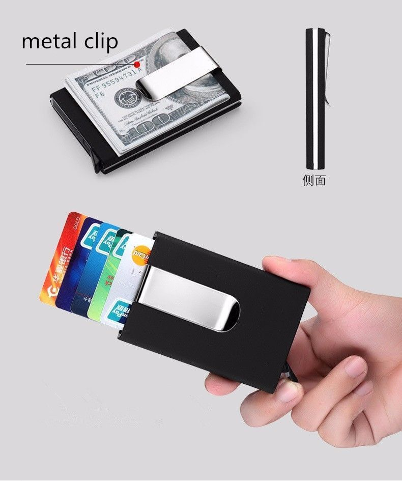 Automatic Card Wallet Men Women Business ID Credit Card Holder with ...