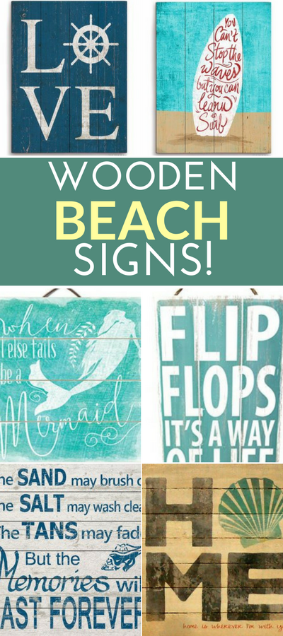 Wooden Beach Signs Decor Alluring Best Wooden Beach Signs  Beachfront Decor  Wood Walls Wall Decorating Inspiration