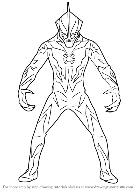 Learn How To Draw Ultraman Belial Ultraman Step By Step Drawing Tutorials Superman Coloring Pages Coloring Pages Puppy Coloring Pages