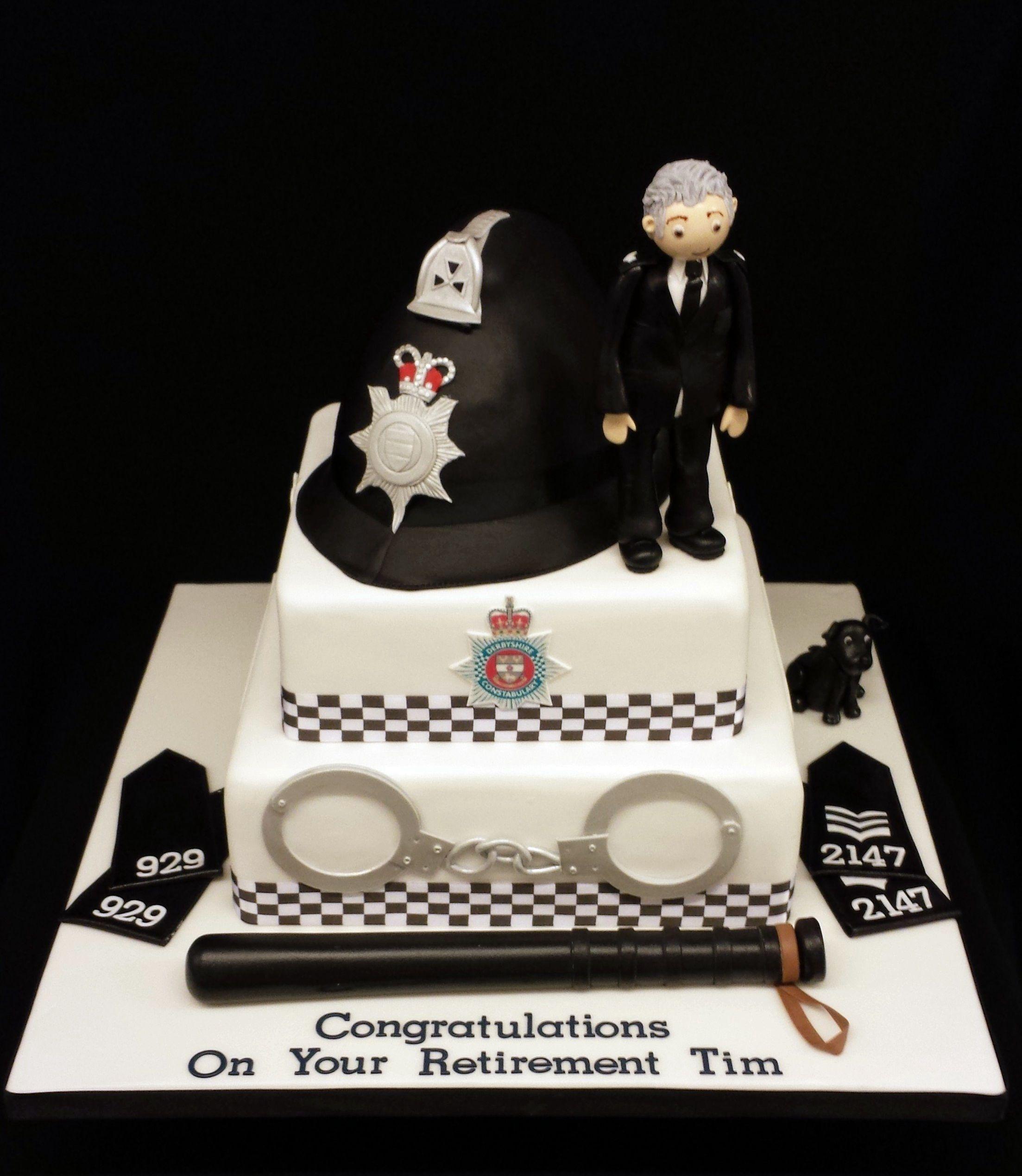 Police Retirement Cake Police Birthday Cakes Police Cakes