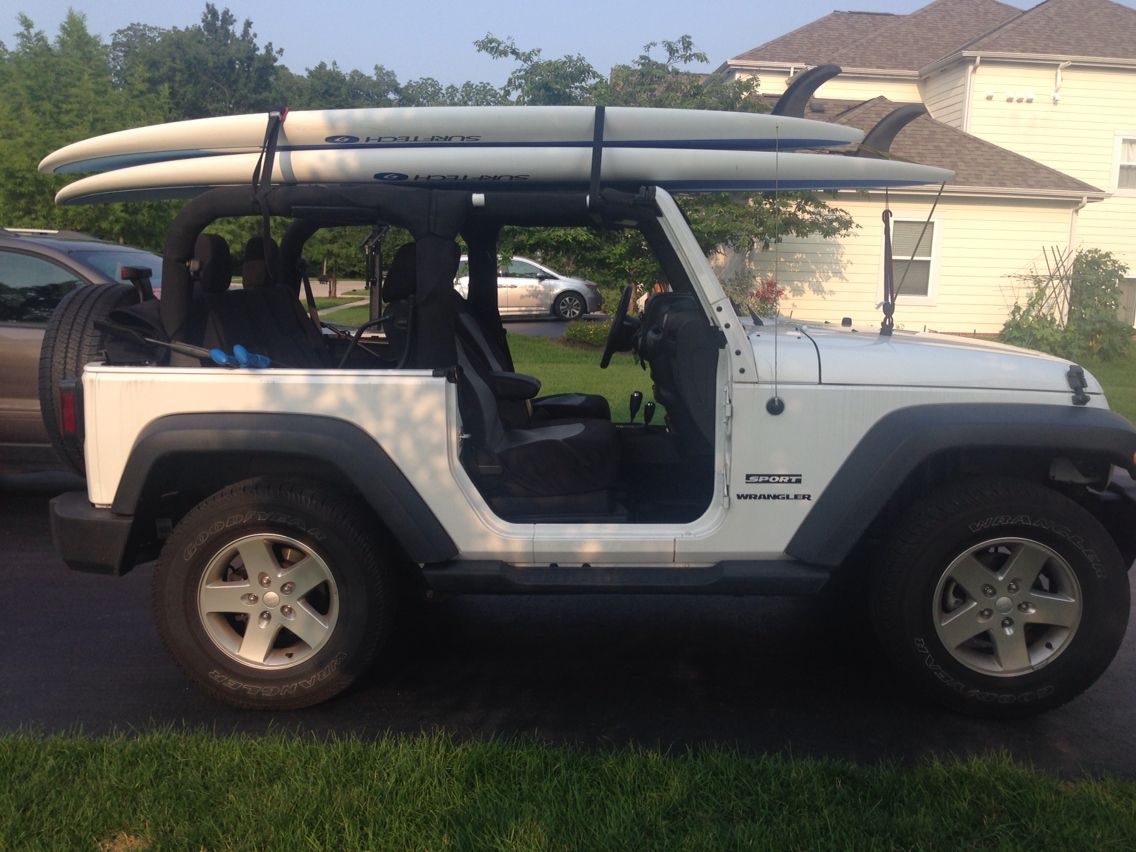 Paddle Boards On The Jeep Paddle Boarding Jeep Wrangler Jeep Yj