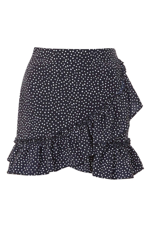 e5a3fe2fe3 Polka Dot Frill Mini Skirt Black Ruffle Skirt, Mini Robes, Holiday Outfits,  Holiday