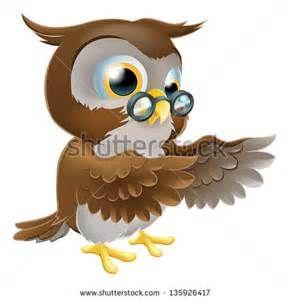 Old Wise Owl Cartoon