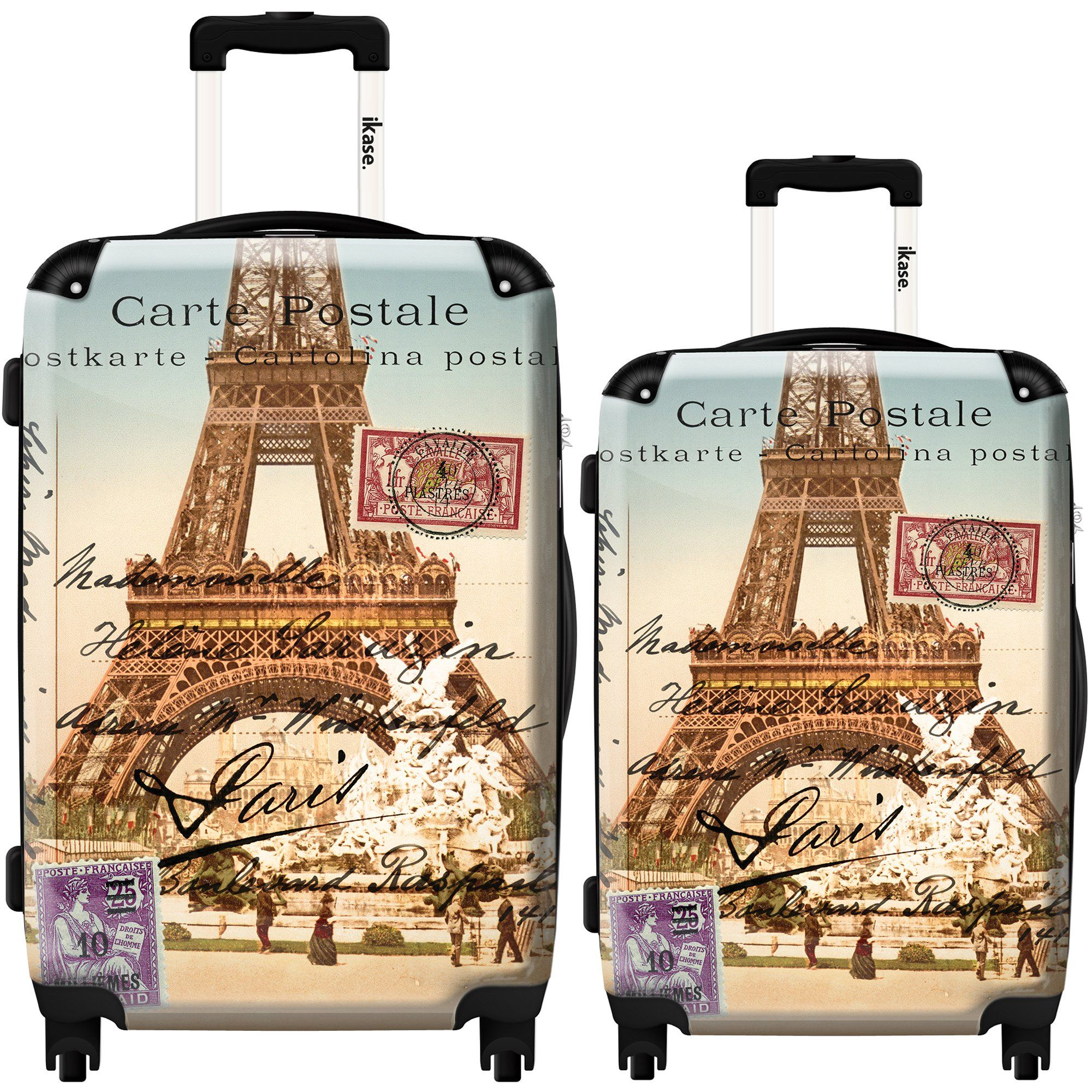Ikase Hardside Spinner Luggage Eiffel Tower 3D by Piddix