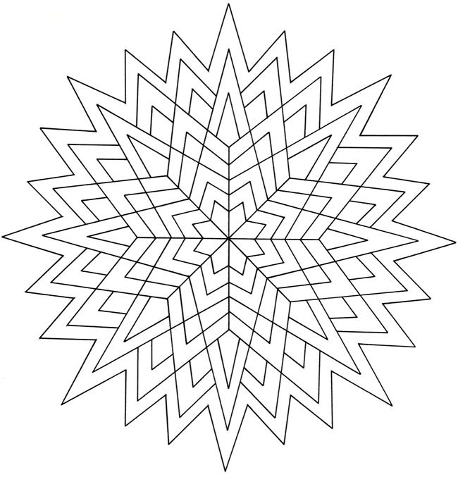 Creative Haven Geometric Star Designs Coloring Book | Doodles ...