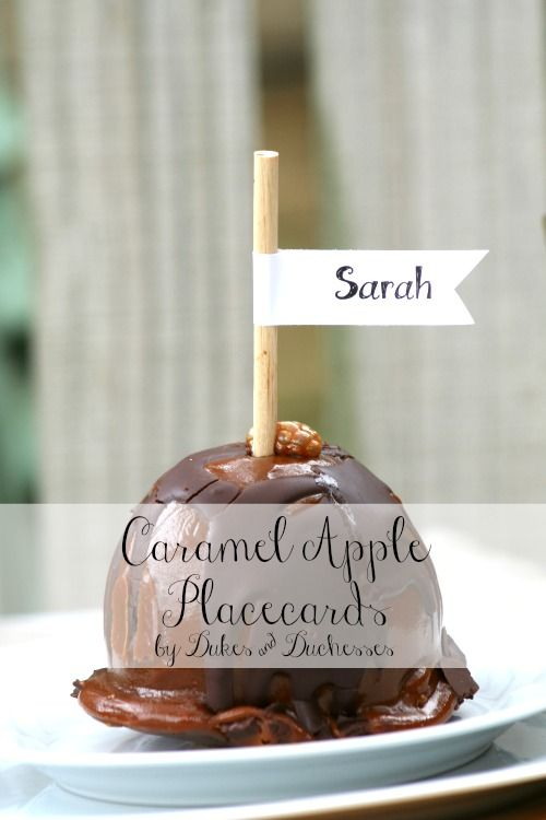 caramel apple placecards