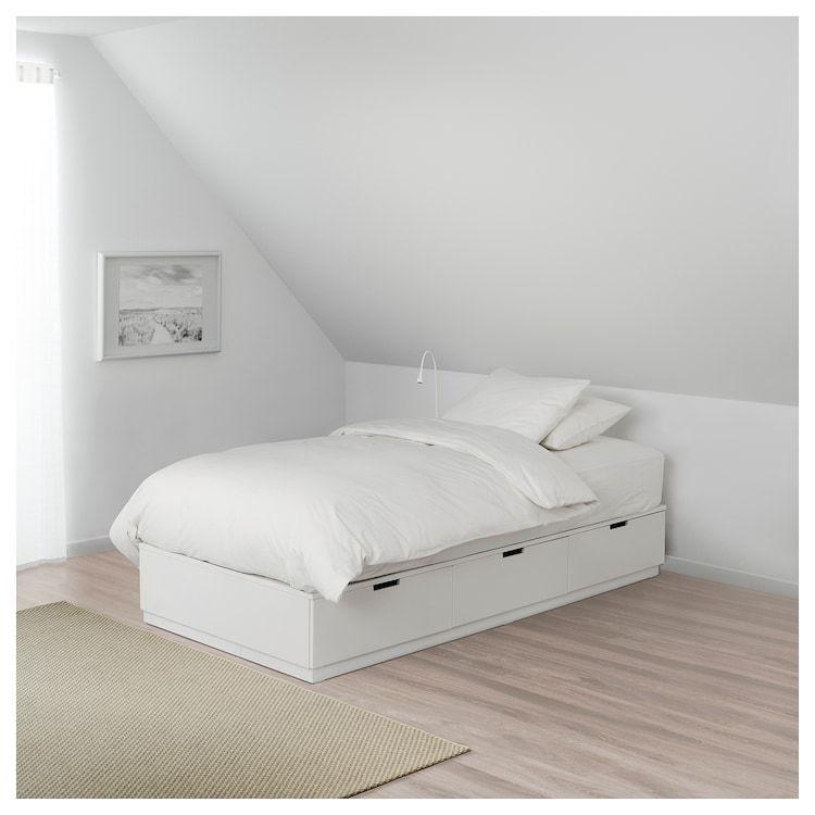 Nordli Bettgestell Mit Schubladen Weiss Ikea Deutschland Bett Lagerung Ikea Kinderzimmer Kleiderschrank Bettgestell