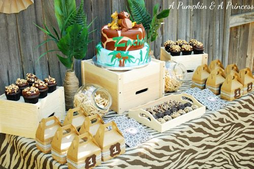 jungle themed birthday party ideas Safari Party 6 BN Black