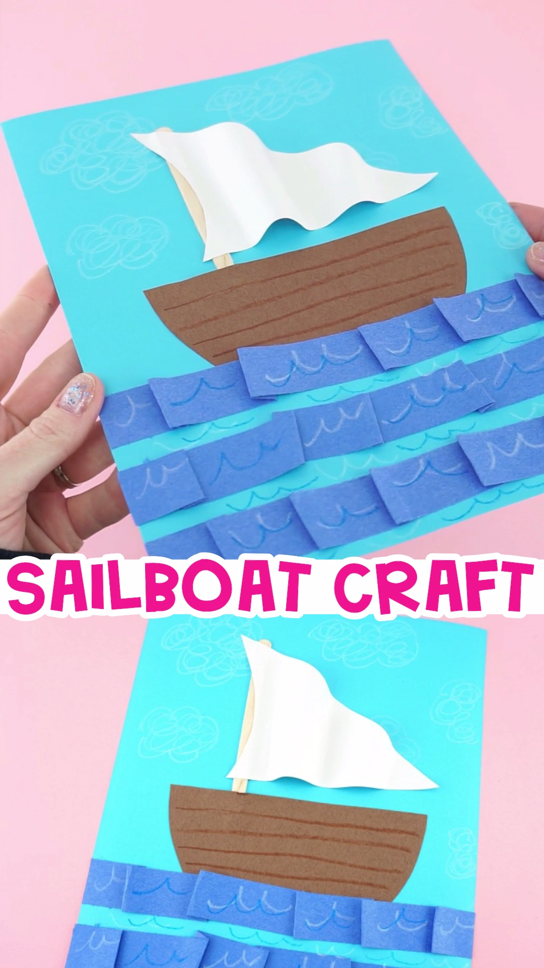 How to Make an Easy Sailboat Craft for Kids #summerfunideasforkids