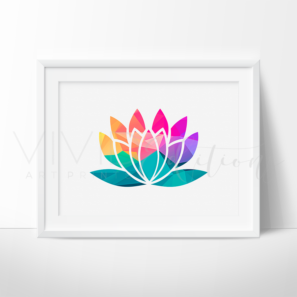 Geometric Lotus Flower In 2019 Canvas Art To Do