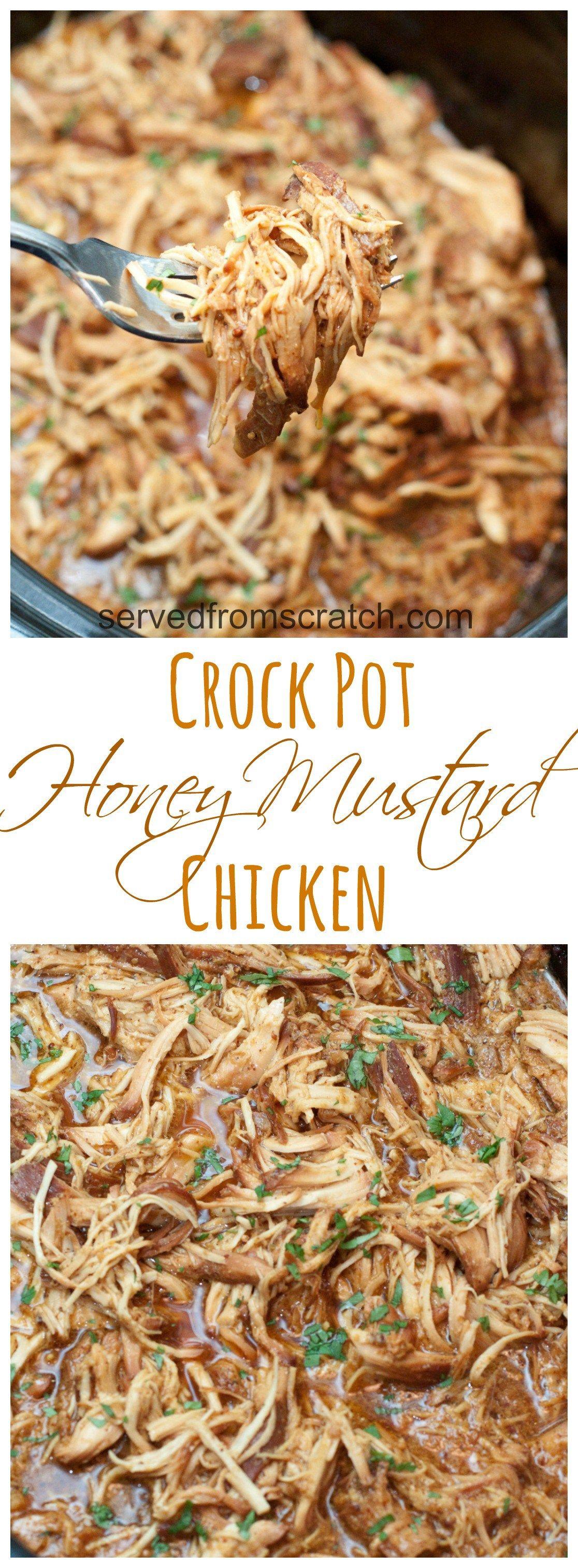 Crock Pot Honey Mustard Chicken - Served From Scratch
