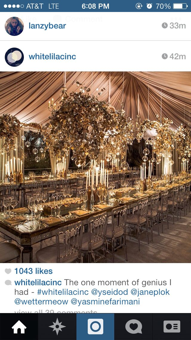 Over the top table decor