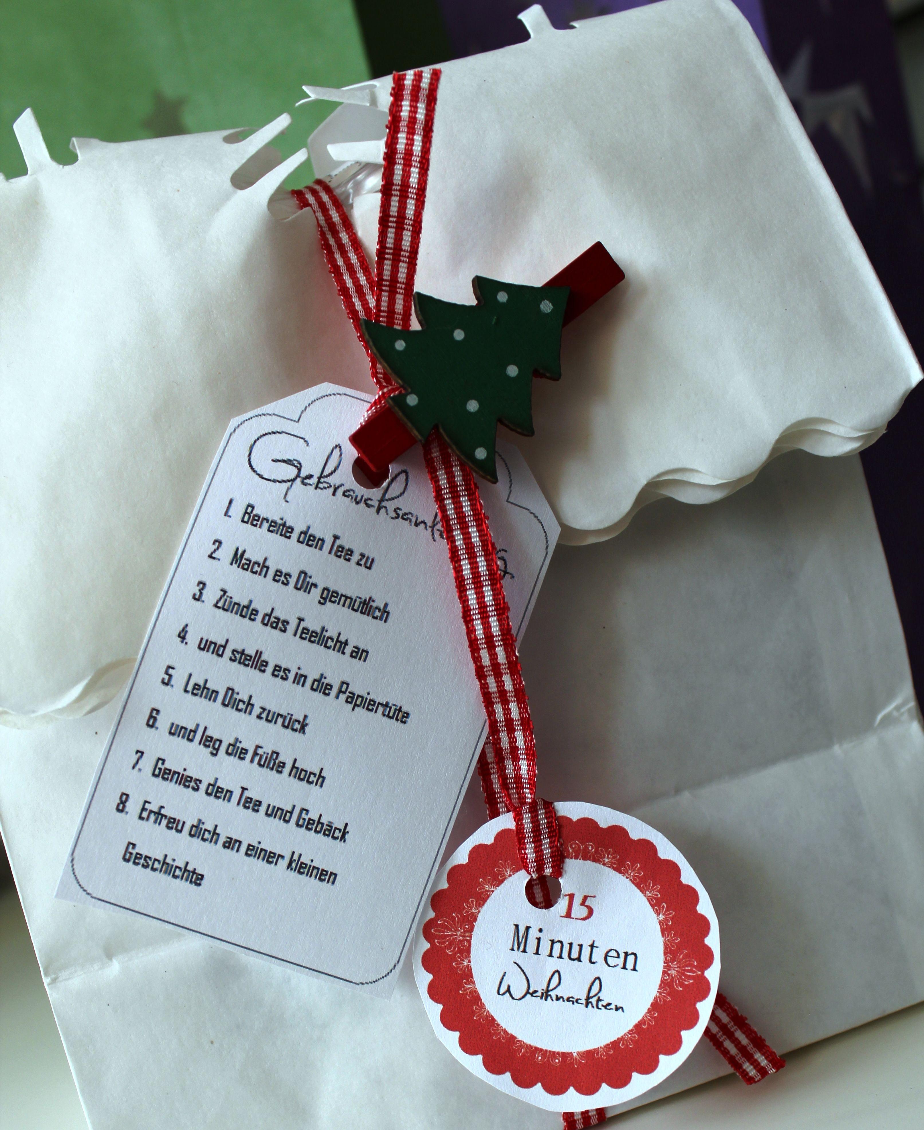 Eitelkeit Kleine Weihnachtsgeschenke Basteln Dekoration Von 15 Minuten Weihnachtstüte. 15 Minuten Weihnachtenweihnachten Xmasbasteln