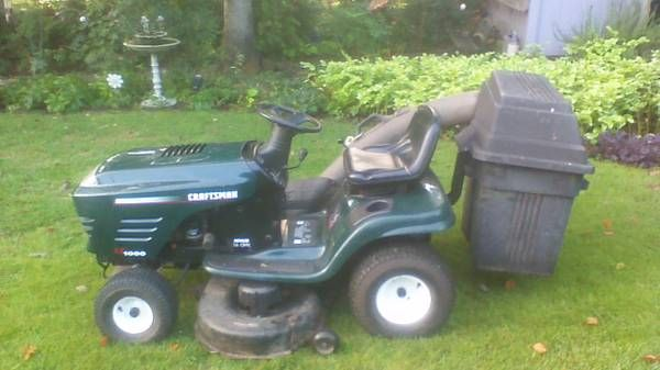 Craftsman Tractor 400 Duluth Craftsman Model 917 272056 16 Hp With 42 In Mower And Grass Bagger Has Manual With I Riding Mowers Riding Lawnmower Mower