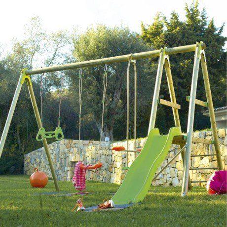 Portique En Bois 2m30 Trigano 5 Agres Aire De Jeu Enfant Aire De Jeux Portique