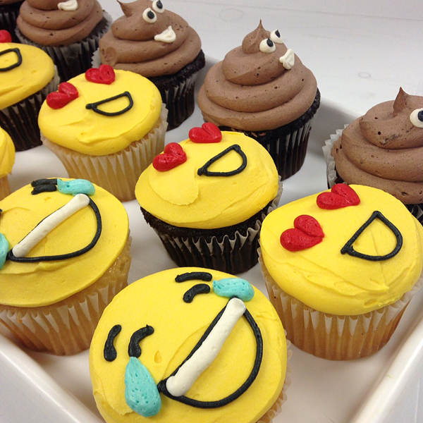 Emoji Cupcakes, $3.25 each, simple emojis only, minimum ...